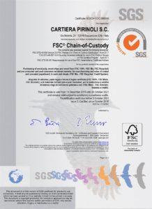 Certificato FSC 2019